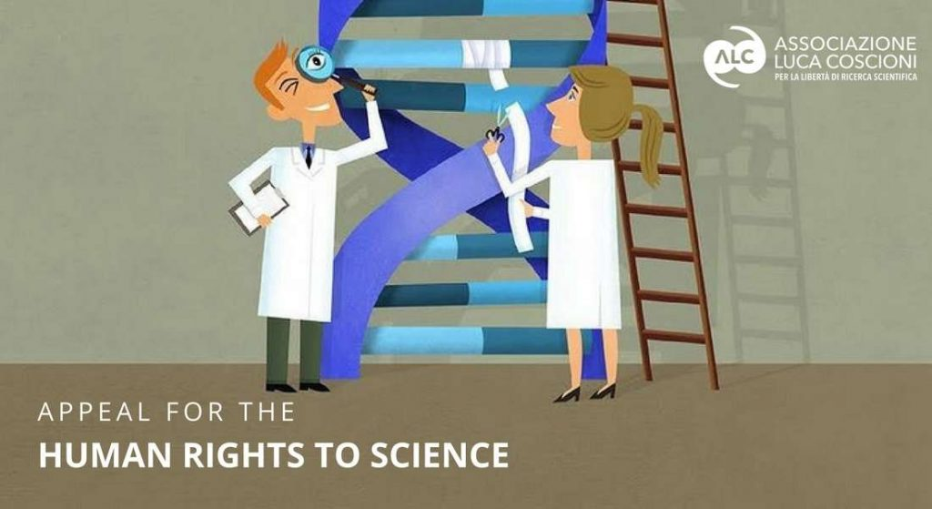 Appeal for the human right to science